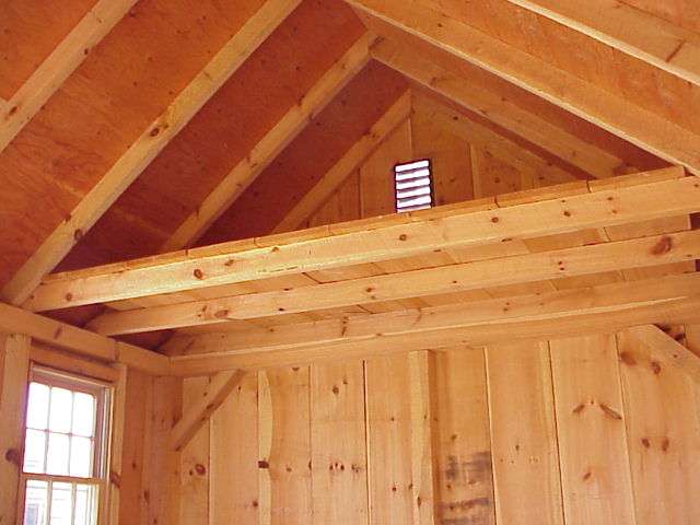 Classic Shed Options: Lofts & Shelving - Storage Shed Kits New England
