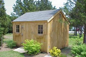 Even pitch or gable roof post and beam sheds